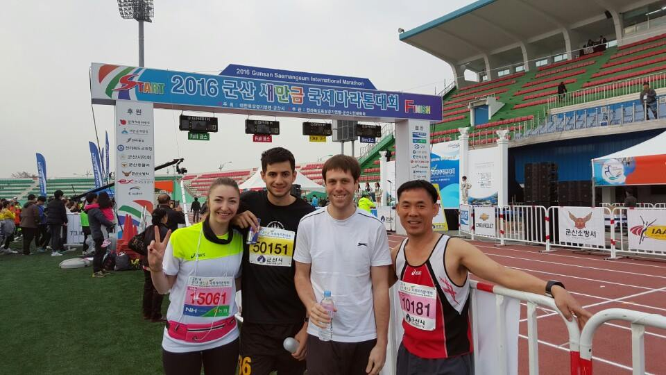 Our international group of runners! Rachel, myself, Denzel (UK) and Yunrok (South Korea)