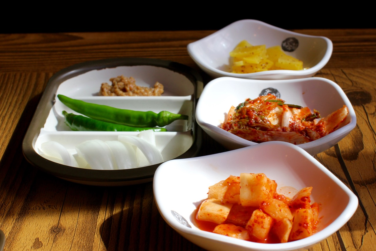Typical Korean side dishes known as banchan