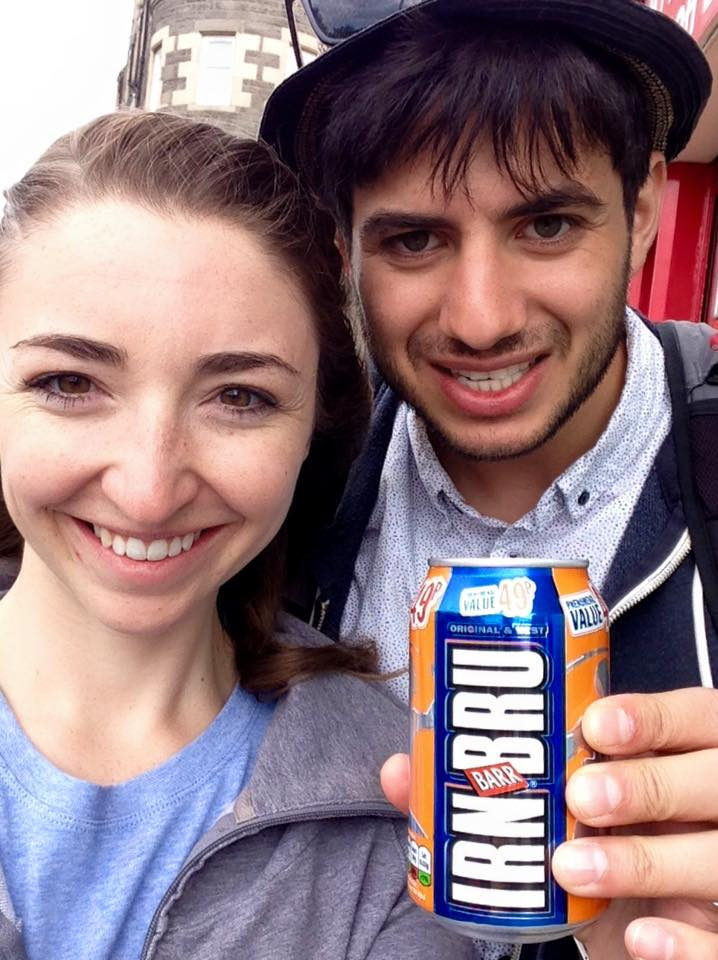 Irn Bru: Basically cabonated sugar water, but when in Scotland you must try this National drink!