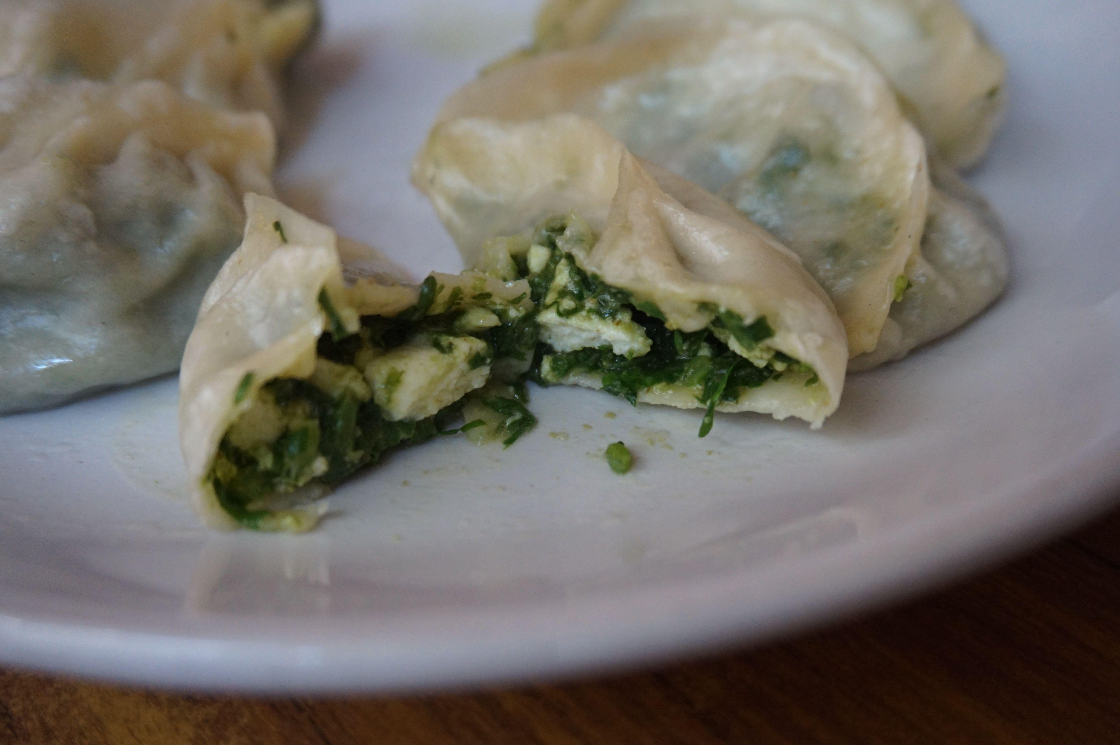 Spinach Paneer Momos
