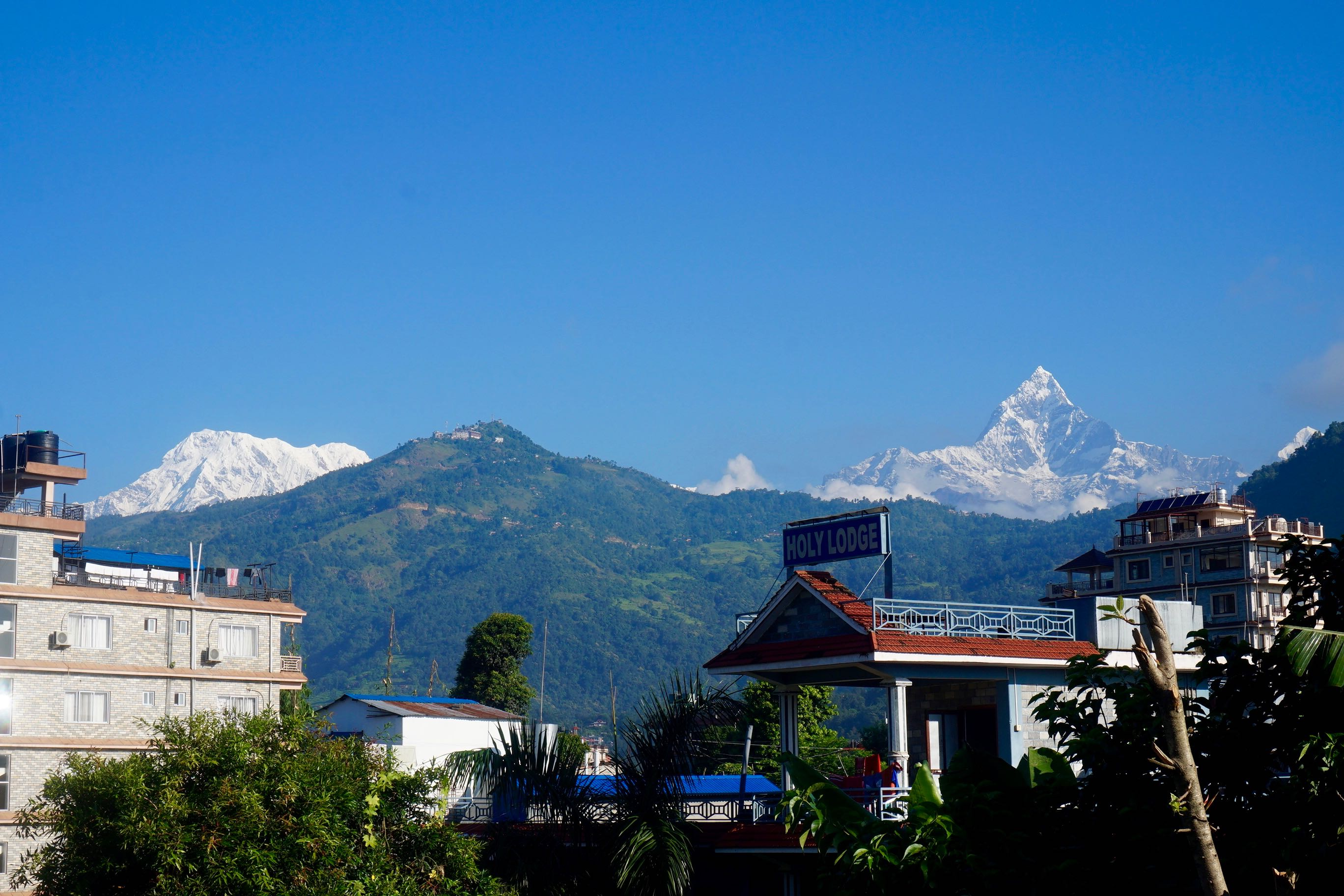 View of Mountains from Gauri Shankar Guesthouse