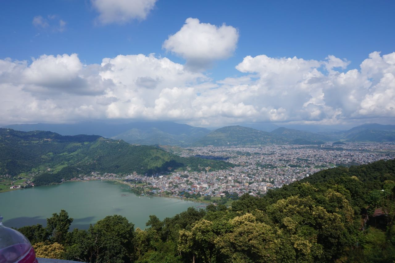 The View of Pokhara from the Peace Pagoda