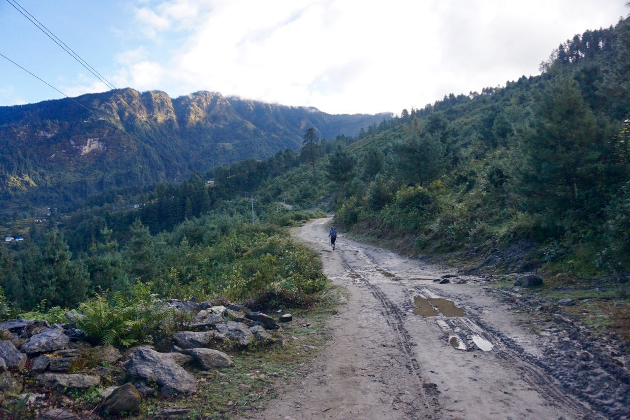 The Trail from Phaplu heading for Ringmu