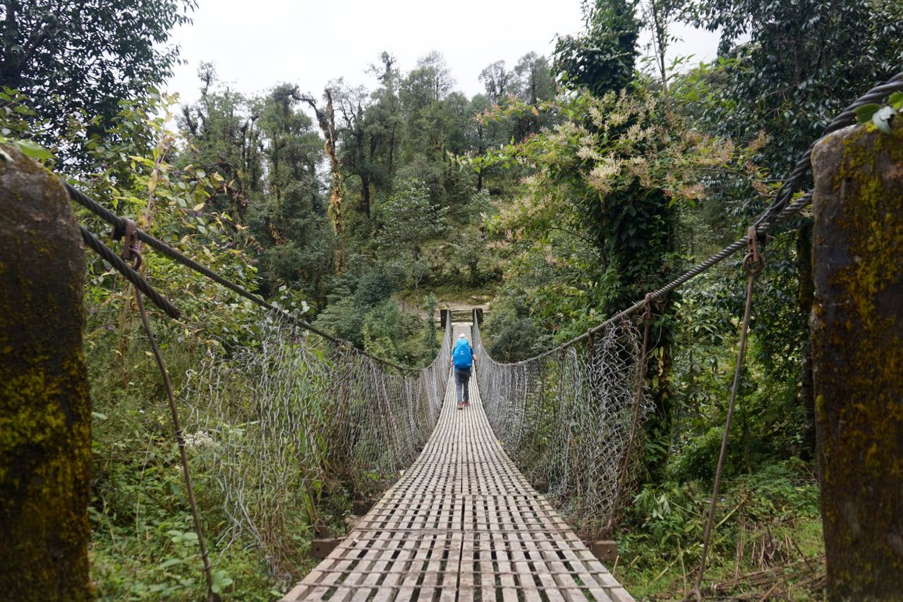 One of Many Suspension Bridges We Crossed