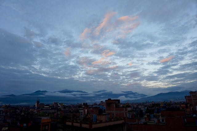 Our view of Kathmandu from the rooftop of our guesthouse