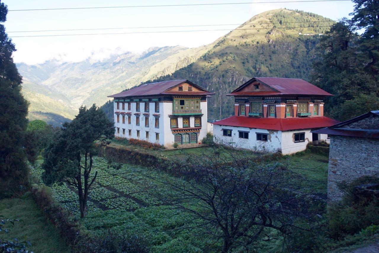 Some of the beautiful tea houses we came across leaving Phaplu