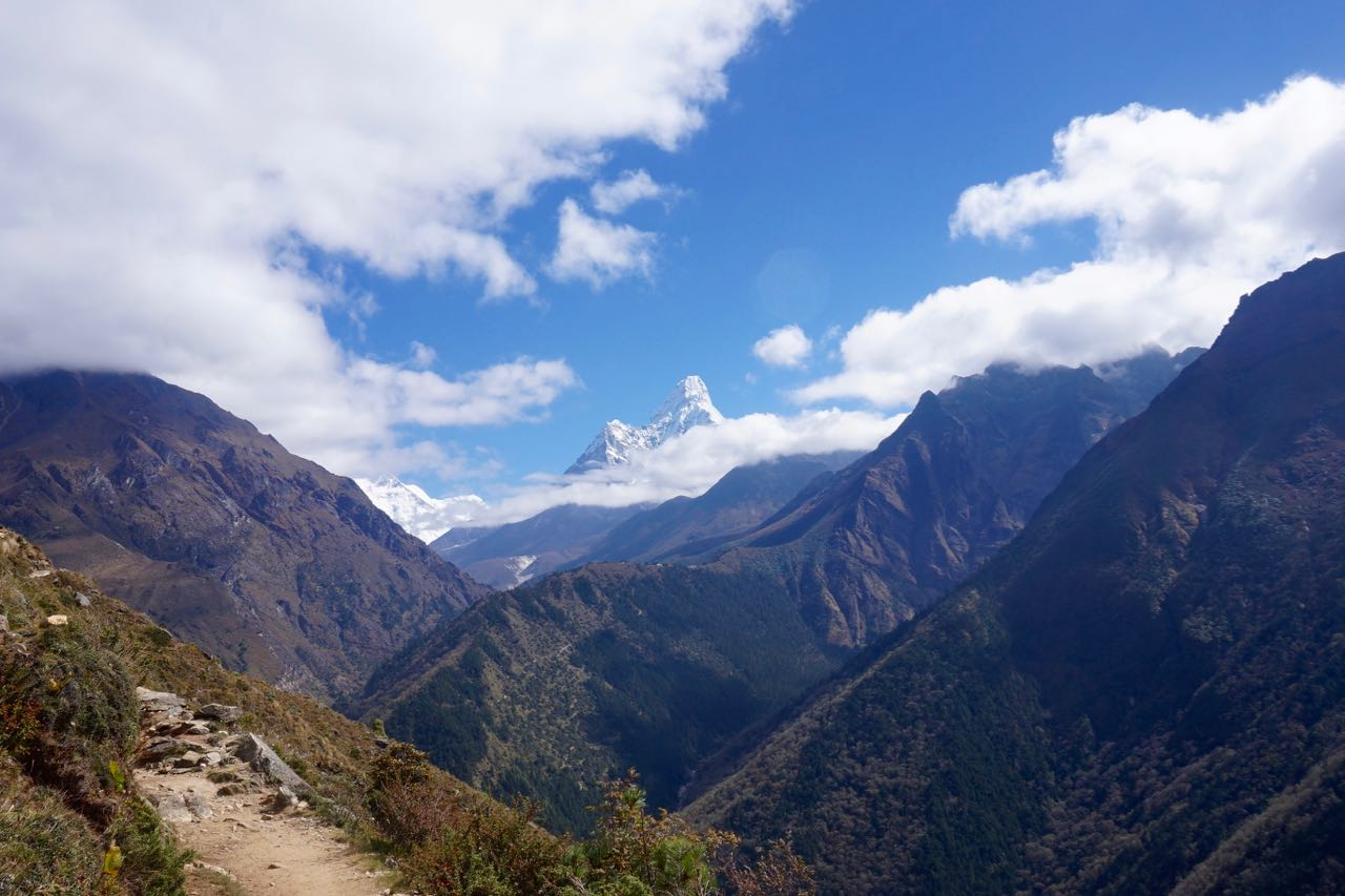 One of our views during our trek to Dole of Ama dablam