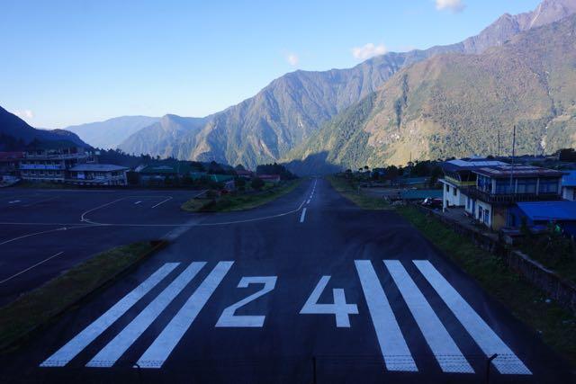 The Tenzing-Hillary Airport runway