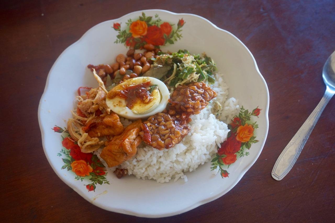 Nasi campur in Amed, Bali, Indonesia (10,000 rupiah / $1 CAD)