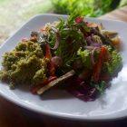 roasted pumpkin and couscous salad at Maha restaurant in Bali