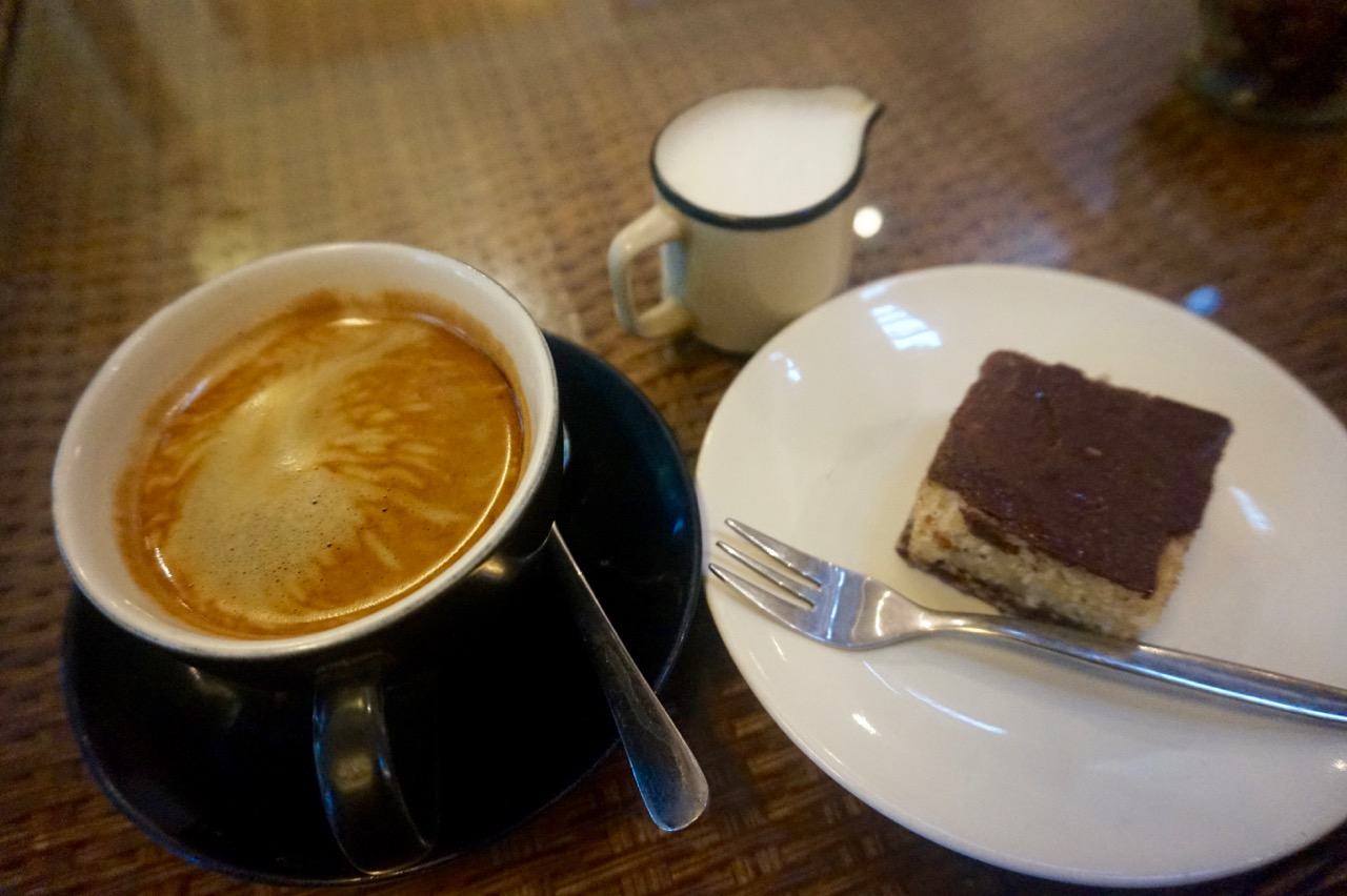 Rachel and I are massive coffee fans, so of course we are constantly looking for a nice cup of java. This local brew was found at Freak Coffee in Ubud. Served with a very yummy Nanaimo bar and cashew milk.